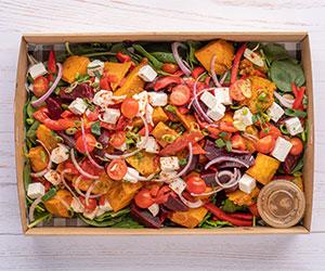 Pickled baby beet pumpkin and feta salad thumbnail