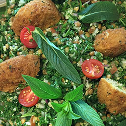 Lentil, tabouleh and falafel salad thumbnail