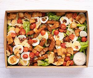 Italian crumbed chicken Ceaser salad thumbnail