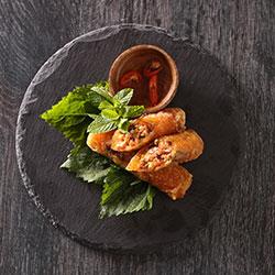 Homemade crispy spring rolls platter - serves 10 thumbnail