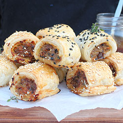 House made sausage rolls thumbnail