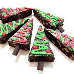 Christmas tree brownies thumbnail