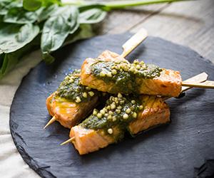 Roast salmon skewer thumbnail