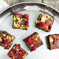 Organic raw super berry brownie thumbnail