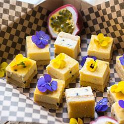Passionfruit slice - mini thumbnail