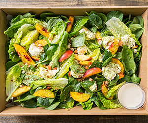 Pickled peach and bocconcini salad - Contains Nuts thumbnail