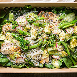 Chicken, avocado and sweet potato noodle salad thumbnail