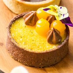 Passionfruit and dark chocolate tart thumbnail