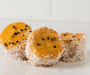 Coconut passionfruit polenta cake thumbnail