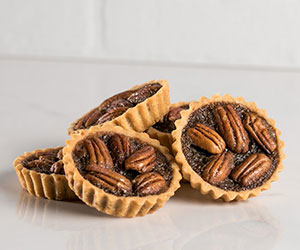 Salted treacle and pecan tart thumbnail