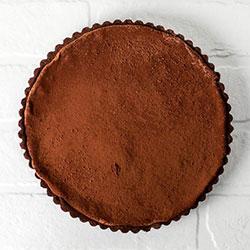 Baked dark chocolate apricot tart thumbnail