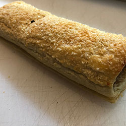 Cheese and bacon sausage roll thumbnail
