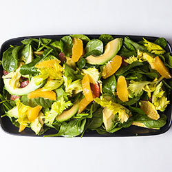 Spinach, avocado and orange salad thumbnail