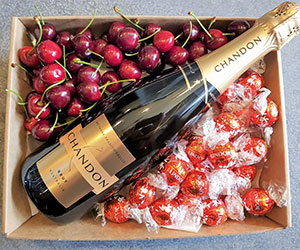 Champagne, chocolates and cherries thumbnail