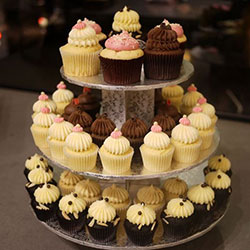 3 Tier Silver Cupcake Tower thumbnail