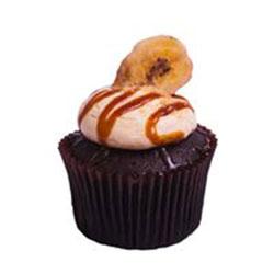 Choc banana custard cupcake thumbnail