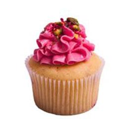 Raspberry pistachio cupcake thumbnail