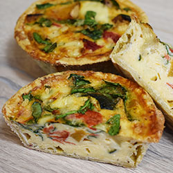 House baked quiche thumbnail
