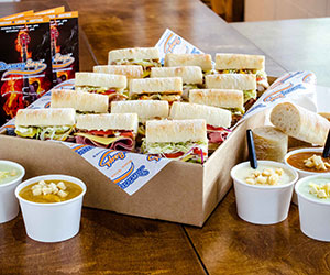 Sandwiches and soups Mega Stars platter - serves 9 to 12 thumbnail
