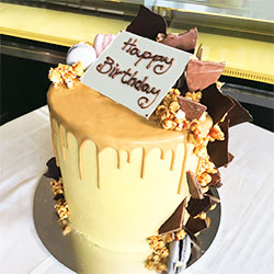 Caramelise popcorn drip cake - serves up to 10 thumbnail