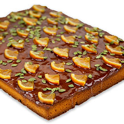 Flourless orange and almond - slab cake thumbnail
