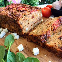 Sun-dried tomato and feta loaf thumbnail