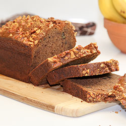 Banana walnut bread loaf thumbnail