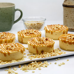 Caramel macadamia cheesecake - 3 inch - box of 6 thumbnail