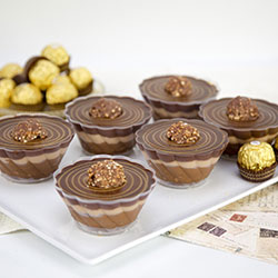 Ferrero nutella cheesecake - 3 inch - box of 6 thumbnail