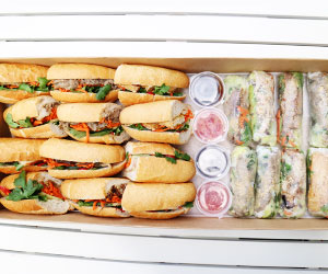 Mixed banh mi and rice paper roll box thumbnail
