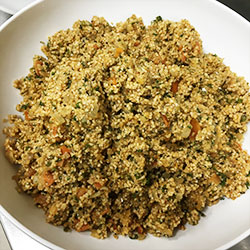 Spiced bulgur wheat salad - serves 10 thumbnail