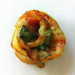 Spinach and three cheese pastry wheels thumbnail