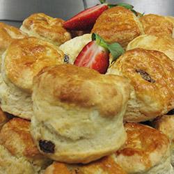 Fluffy baked buttermilk scones thumbnail