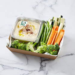 Hummus and veggies box - serves up to 6 people thumbnail