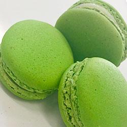 Red and green custom macarons thumbnail