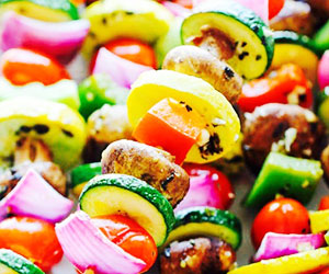 Vegetarian skewer - mini thumbnail