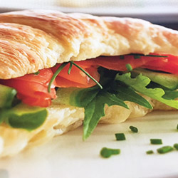 Savoury croissant filled with tomato, cheese and rocket - large thumbnail