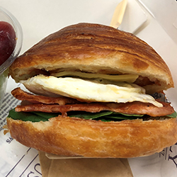 Breakfast croissant roll thumbnail