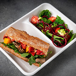 Sandwich and greens lunch box thumbnail