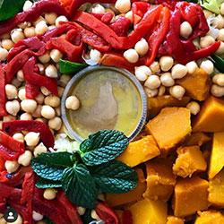 Pumpkin and chickpea salad thumbnail