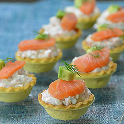 Smoked salmon tartlet thumbnail