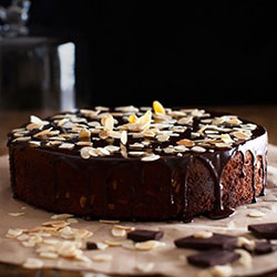 Flourless chocolate almond chocolate chip - 10 inches - serves 15 thumbnail