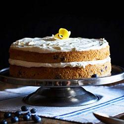 Lemon blueberry buttermilk - 10 inches - serves 15 thumbnail
