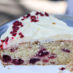 Raspberry sour cream coconut - 10 inches - serves 15 thumbnail