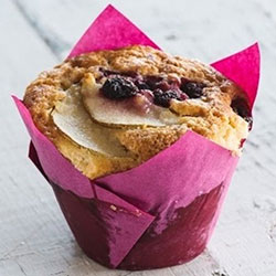 Pear and raspberry muffins thumbnail