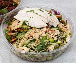 Individual salad bowl with chicken thumbnail