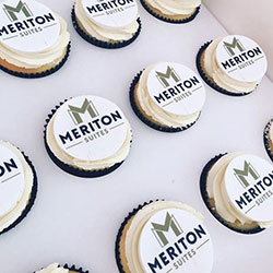 Corporate logo branded cupcakes thumbnail