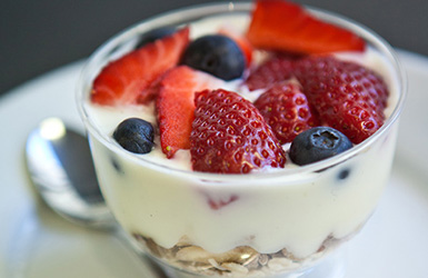 Yoghurt cup with fruit and granola thumbnail
