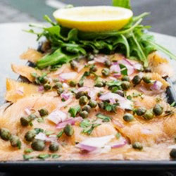 Smoked salmon carpaccio thumbnail