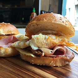 Bacon and egg slider - mini thumbnail